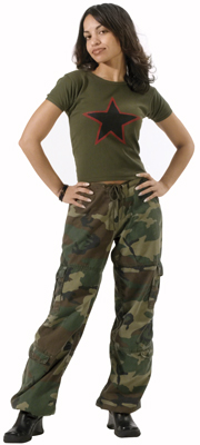 Women's Fatigue Pants, Capris and Sweatpants We carry an assortment of womens military and camouflage pants, capris, sweatshirt and sweatpants! Women's camouflage sweats, pants and capris.