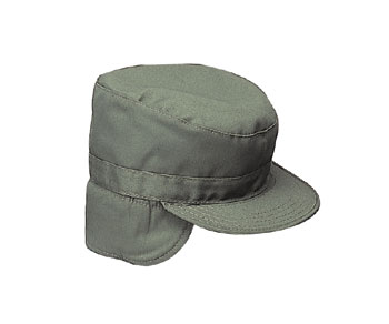 Rothco 5712 Olive Drab With Ear Flaps Military Patrol Fatigue Cap