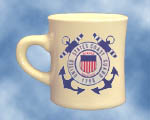 Coast Guard Coffee Mugs These heavy duty 8 oz. coffee mugs are made of vitreous china and are dish washer safe.   DO NOT MICROWAVE... 