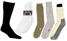 Socks Going hunting? Camping? Just walking around town? We have a pair of socks for all your needs.