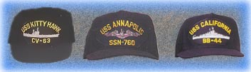US Navy Ship Hats  Aircraft Carriers, Battle Ship, Cruisers, Destroyers and Submarines