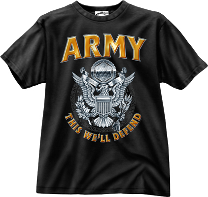 Army Emblem Tee By Black Ink Design Exclusively For Rothco
