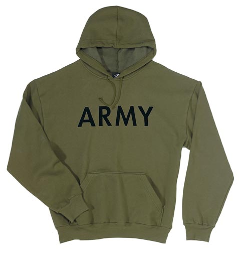 4719091b Olive Drab Pullover Hooded Army Sweatshirt by ROTHCO