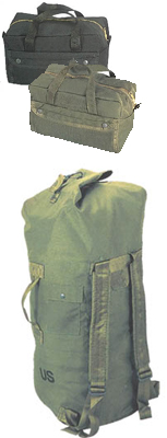 Duffle Bags, Back Packs, Day Packs, Shoulder Bags, Carry Bags