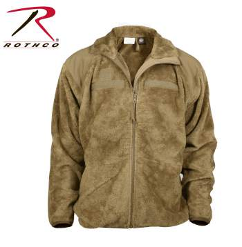 Rothco Generation III Level 3 ECWCS Fleece Jacket Gen III Level 3 ECWCS Jacket Liner is a versatile piece of military outerwear that can be worn as a jacket or liner. The fleece/jacket liner features a 100% polar fleece body that keeps you extra warm with a full front zipper that zips all the way up through the collar. The neck, shoulder & elbow patches are 100% nylon. The jacket/liner also features gridded side/armpit panels for breathability, hook & loop for rank and name badges, 2 outer side pockets, 2 inside mesh pockets. The ECWCS fleece jacket is available in sizes s to 3xl and in coyote, black and foliage green colors.