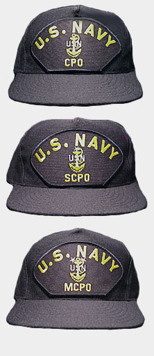 f9ae7b5b369 United States Navy CPO Hats are adjustable