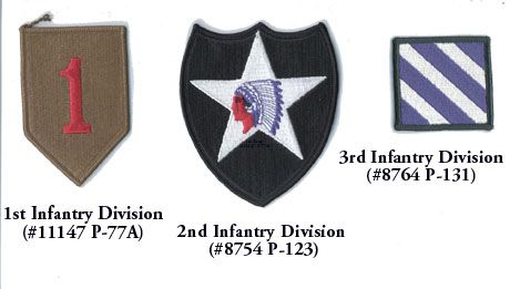Infantry Division Patches u s Army Infantry Division