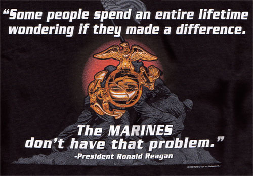 """Marine Corps Quotes Gorgeous Marine Corps """"difference"""" Military Tshirtjoe Blow"""
