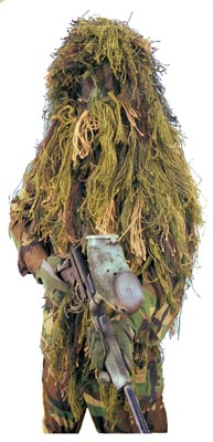 Ghillie Suits, Camouflage Makeup, Camouflage Netting & Camouflage System Accessories Mystic Army Navy offers a complete line of camouflage and Ghillie suits for hunting, paintball, survival and evasion events. We have ready to wear suits and make your own kits including full body suits, face veils and rifle rags. Our line of camouflage makeup is just the thing to make your ghillie suit complete. We offer a complete line of camouflage netting and Camo system accessories.