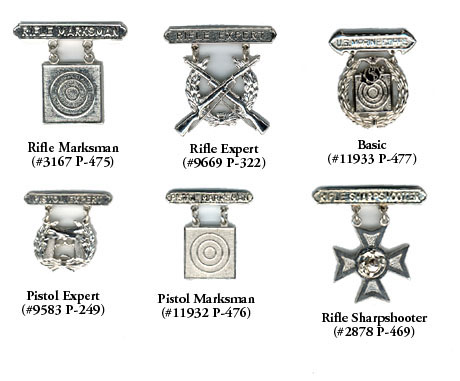 U.S. Marine Corps Marksmanship Badges